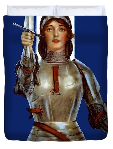 Joan of Arc Saved France Duvet Cover by War Is Hell Store
