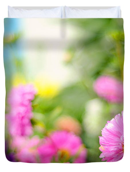 Joy of Summer Time Duvet Cover by Jenny Rainbow