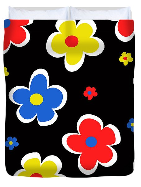 Junior Florals Duvet Cover by Louisa Knight