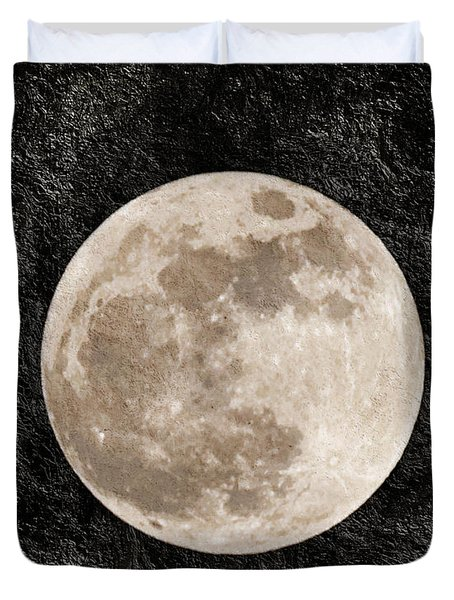 Just A Little Ole Super Moon Duvet Cover by Andee Design