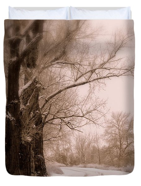 Just Around the Bend  Duvet Cover by Carol Groenen