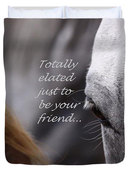 Just Friends Duvet Cover by Travis Truelove