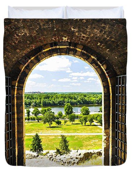 Kalemegdan Fortress In Belgrade Duvet Cover by Elena Elisseeva