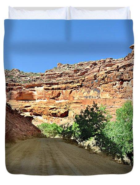 Kane Creek Road Duvet Cover by Marty Koch