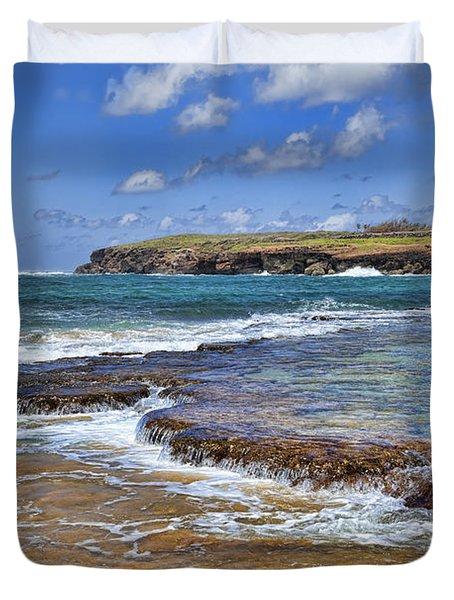 Kauai Beach 2 Duvet Cover by Kelley King