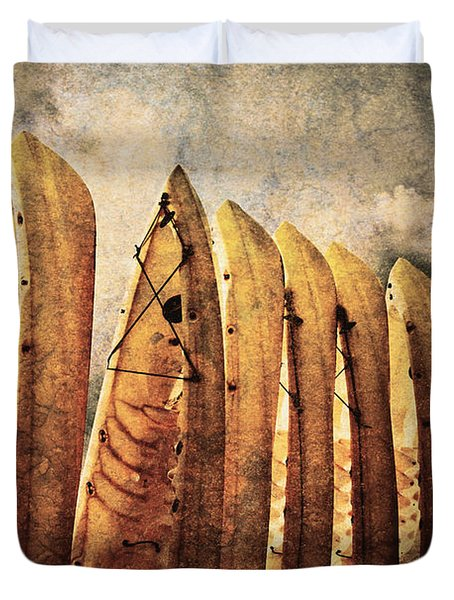 Kayaks Duvet Cover by Skip Nall