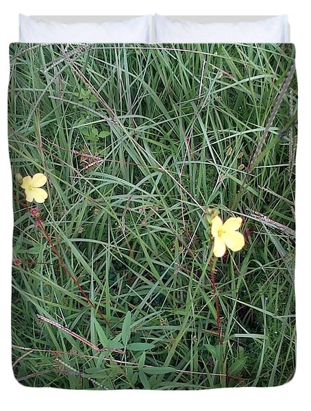Kiiroi Hana Duvet Cover by George Pedro