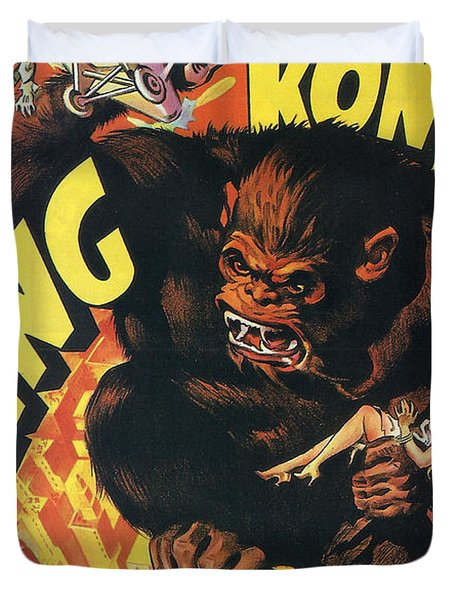 King Kong Duvet Cover by Nomad Art And  Design
