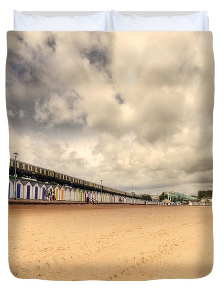 Kinlet Hall At Goodrington Sands Duvet Cover by Rob Hawkins