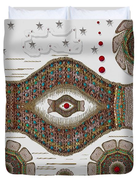 kissing fish from wishful Sea to the warm reef Duvet Cover by Pepita Selles