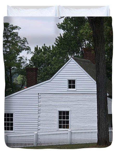 Kitchen and Slave Quarters Appomattox Virginia Duvet Cover by Teresa Mucha