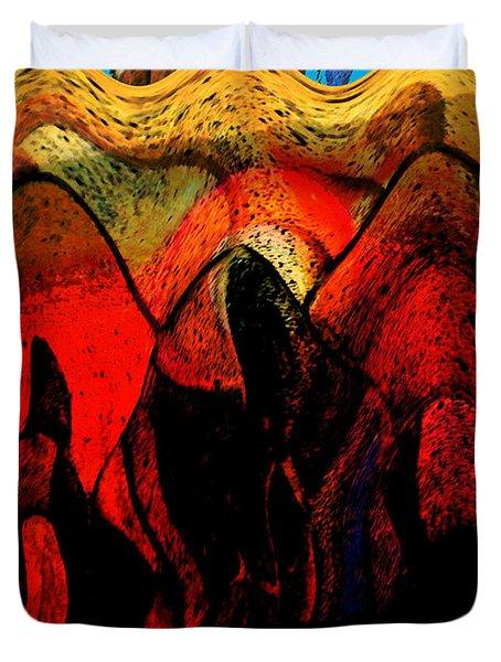 Kkk In The Usa Duvet Cover by Lenore Senior