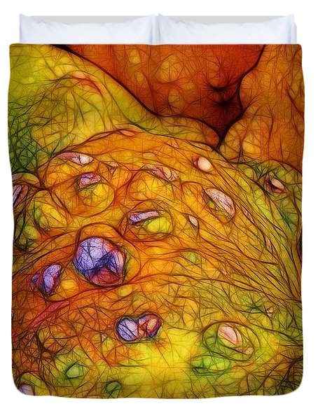 Knobbly Squash Duvet Cover by Judi Bagwell