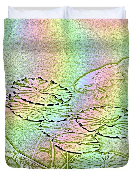 Koi Rainbow Duvet Cover by Tim Allen