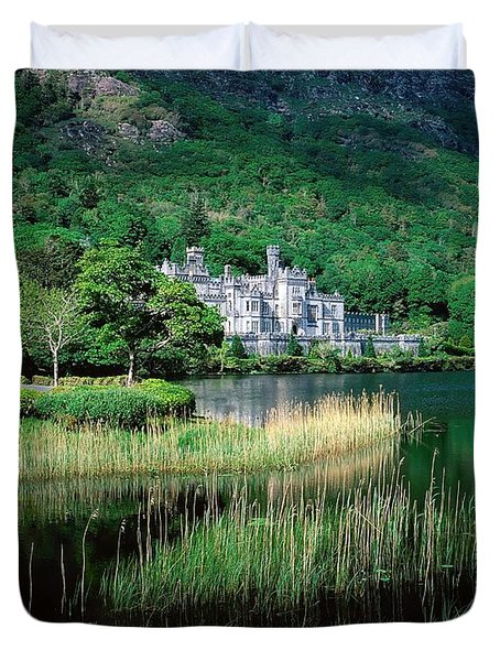 Kylemore Abbey, Co Galway, Ireland Duvet Cover by The Irish Image Collection