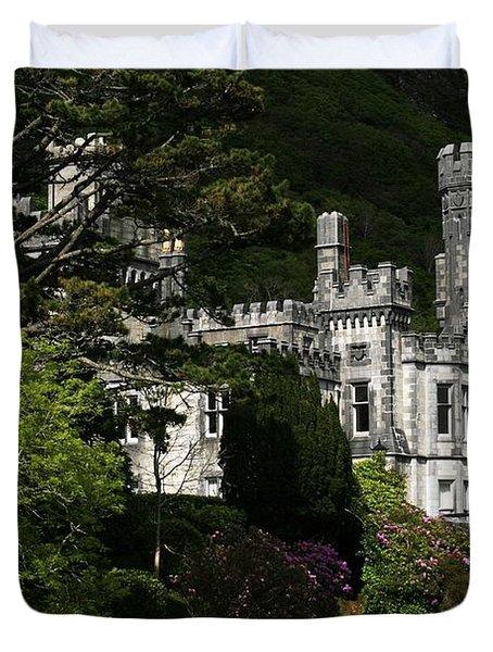 Kylemore Abbey, Connemara, County Duvet Cover by Peter Zoeller