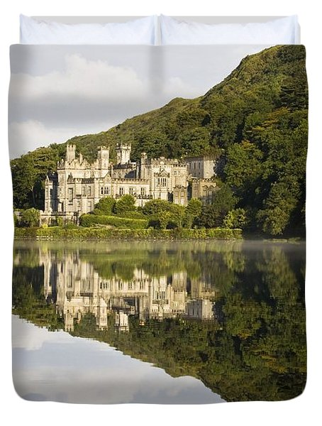 Kylemore Abbey, County Galway, Ireland Duvet Cover by Peter McCabe