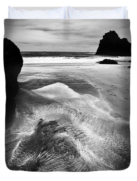 Kynance Cove Cornwall Duvet Cover by Dorit Fuhg
