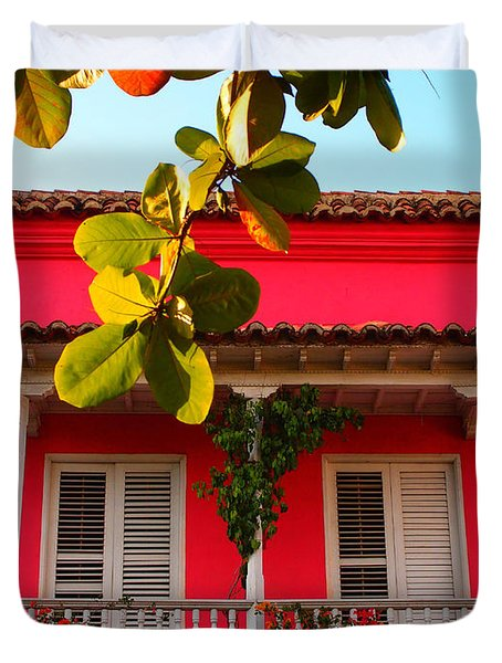 La Casa De Los Duendes Duvet Cover by Skip Hunt