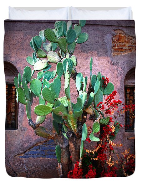 La Hacienda in Old Tuscon AZ Duvet Cover by Susanne Van Hulst