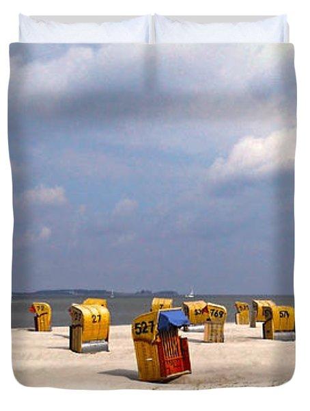 Laboe Beach ... Duvet Cover by Juergen Weiss