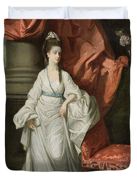 Lady Grant - Wife Of Sir James Grant Duvet Cover by Johann Zoffany