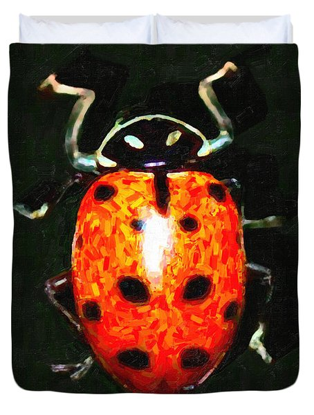 Ladybug Duvet Cover by Wingsdomain Art and Photography