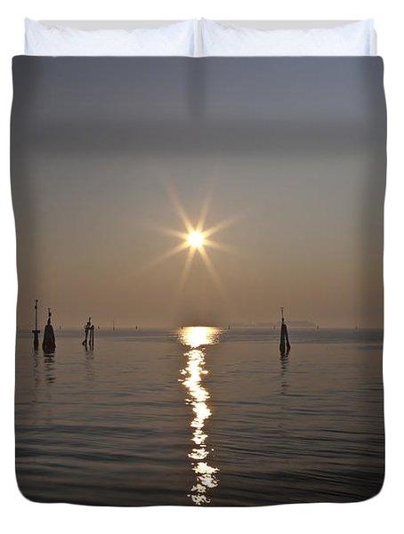 lagoon of Venice Duvet Cover by Joana Kruse