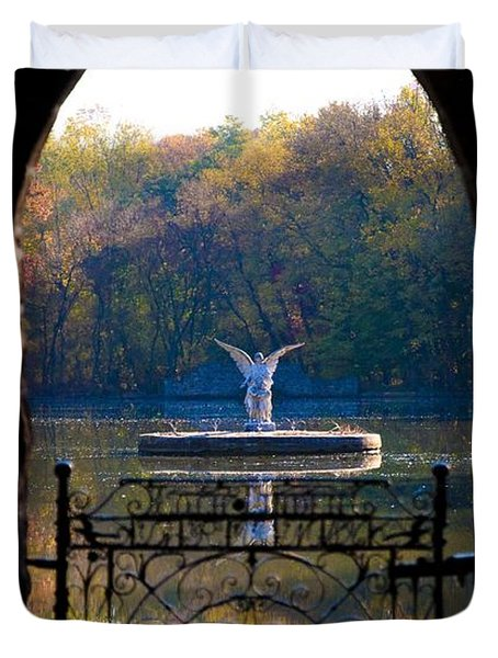 Lake Angel Duvet Cover by Bill Cannon
