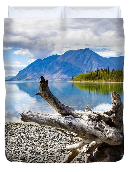 Lake Kathleen In Kluane National Park Duvet Cover by Blake Kent