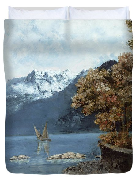 Lake Leman Duvet Cover by Gustave Courbet
