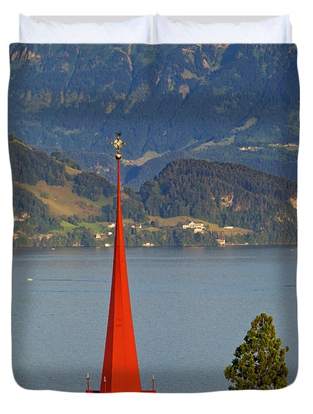 Lake Lucerne Duvet Cover by Brian Jannsen