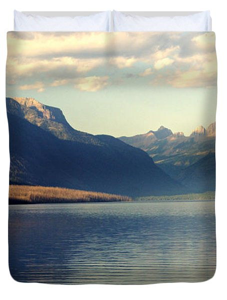 Lake Mcdonald At Sunset Duvet Cover by Marty Koch