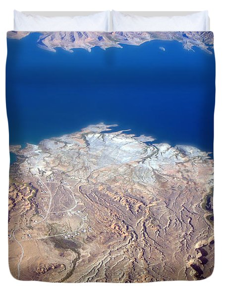Lake Mead Nevada Aerial Duvet Cover by James BO  Insogna