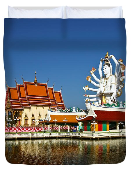 Lake Temple Duvet Cover by Adrian Evans