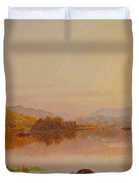 Lake Wawayanda Duvet Cover by Jasper Francis Cropsey