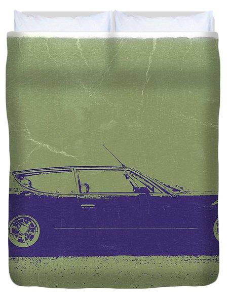 Lamborghini Espada Duvet Cover by Naxart Studio