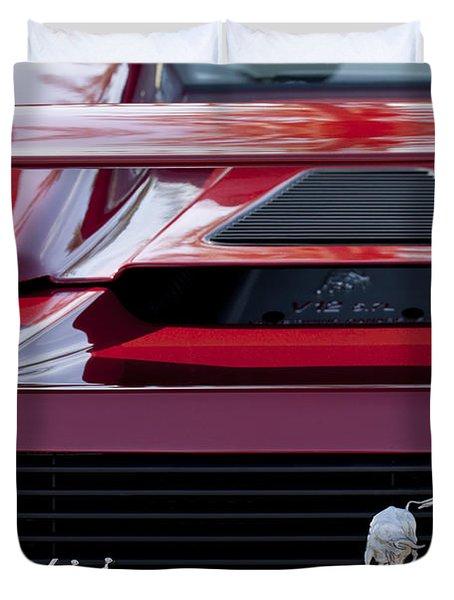 Lamborghini Rear View Duvet Cover by Jill Reger