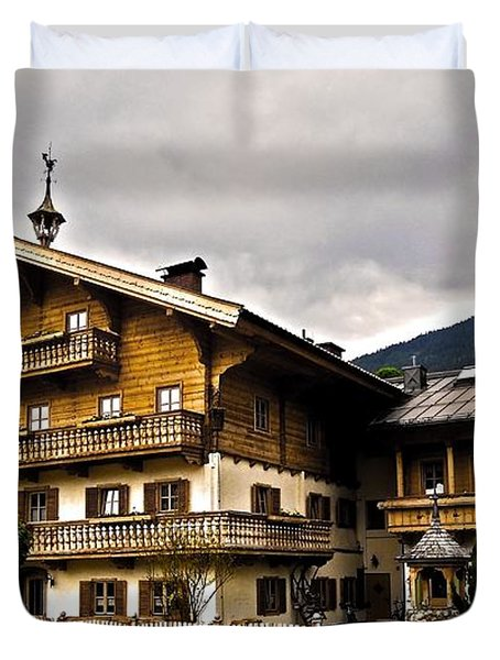 Landhaus Hofermuehle - Maria Alm  Duvet Cover by Juergen Weiss