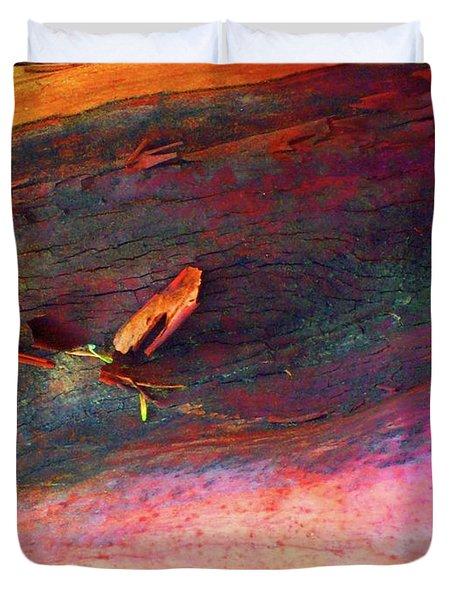 Duvet Cover featuring the digital art Landing by Richard Laeton