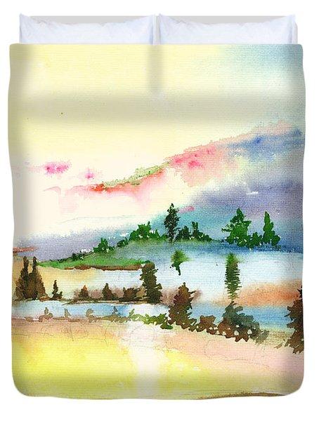 Landscape 1 Duvet Cover by Anil Nene