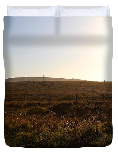 Landscape At Point Reyes California . 7D9958 Duvet Cover by Wingsdomain Art and Photography