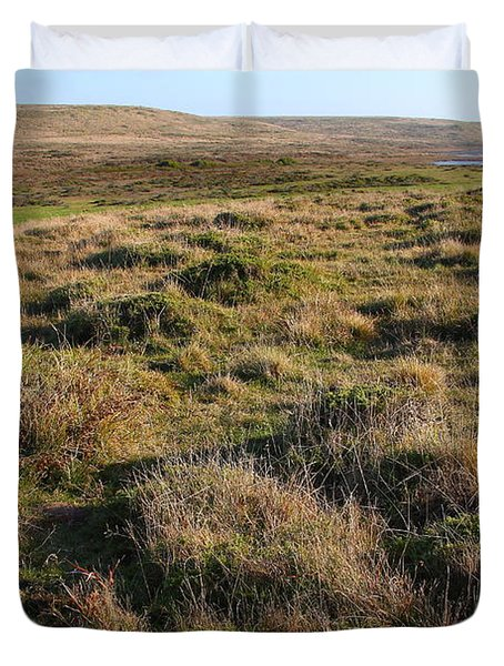 Landscape With Cow Grazing In The Field . 7D9942 Duvet Cover by Wingsdomain Art and Photography