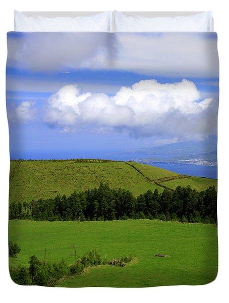 Landscape With Crater Duvet Cover by Gaspar Avila
