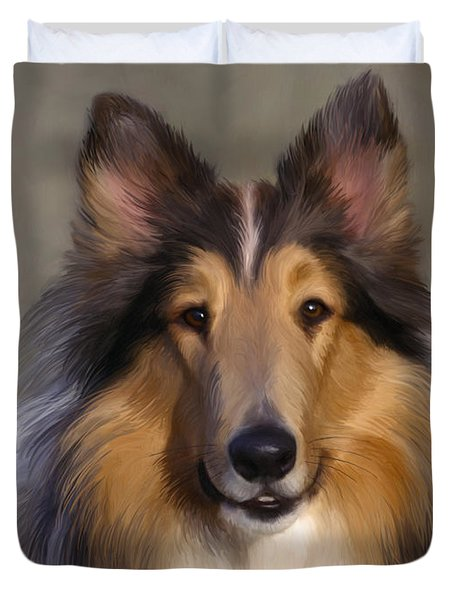 Lassie Come Home Duvet Cover by Snake Jagger
