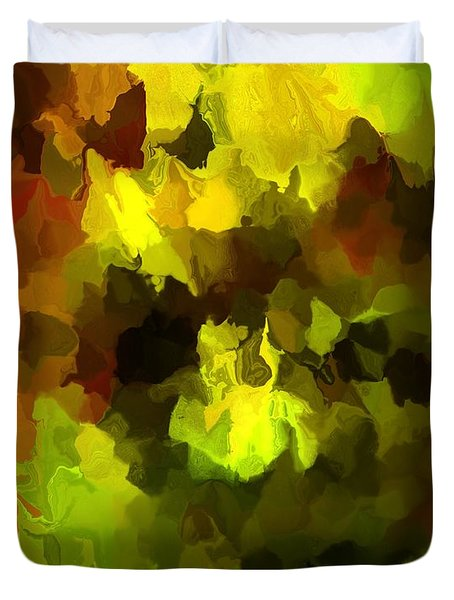 Late Summer Nature Abstract Duvet Cover by David Lane