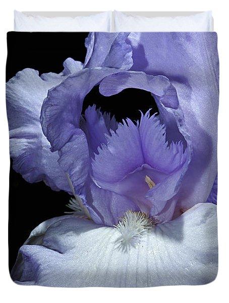 Lavender Blue Iris Duvet Cover by Phyllis Denton