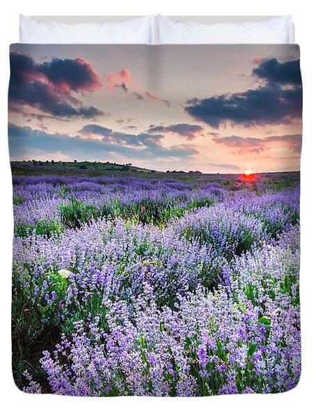 Lavender Sea Duvet Cover by Evgeni Dinev