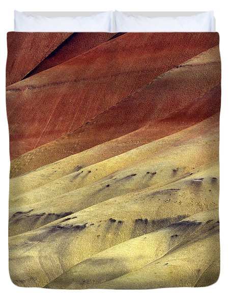 Layers of Red Duvet Cover by Mike  Dawson