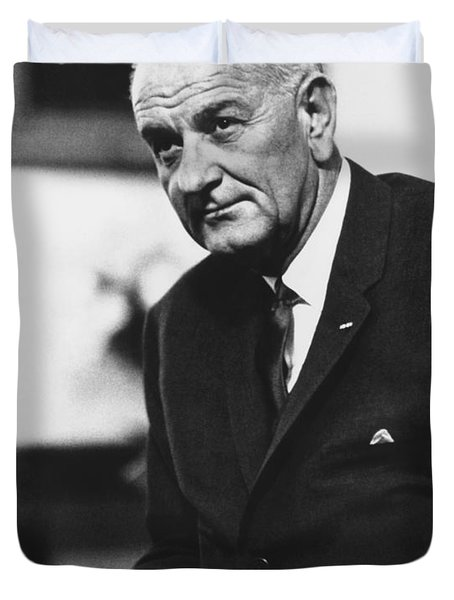 Lbj  Duvet Cover by War Is Hell Store